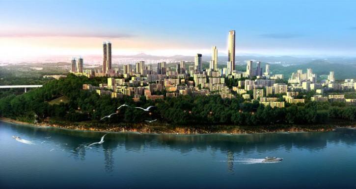 重庆悦来生态城的新总体规划受到了圣吉米尼亚诺的启示,结合了这个地方的现有地形地貌。