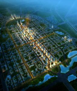 卡尔索普为呈贡新区设计的规划,随着昆明的扩张,这个新城区将吸纳150万人口。