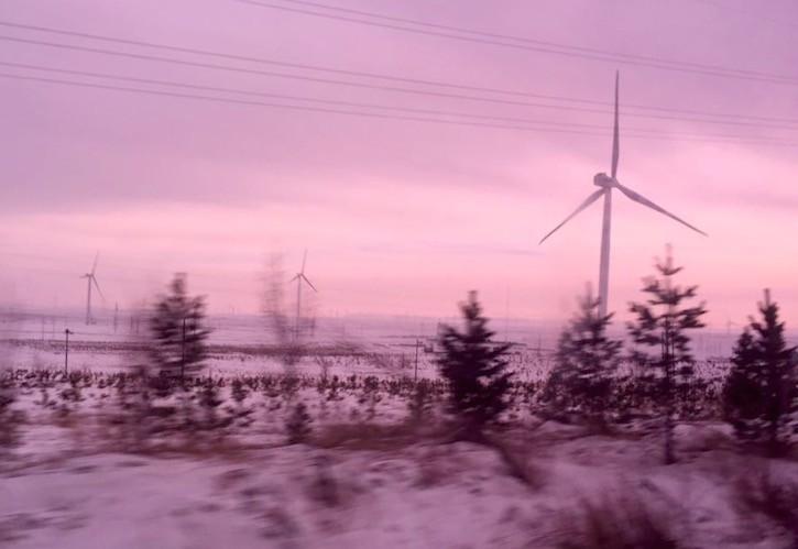 Wind mills along expressway to ZJK Sized