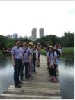 学员参观天水围的著名生态旅游区——香港湿地公园。